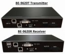 2 x DVI with Audio KVM Extender over Gigabit Ethernet PHY